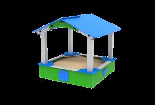 Piaskownica 1,35 x 1,35m z dachem