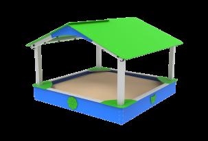 Piaskownica 2,3 x 2,3m z dachem