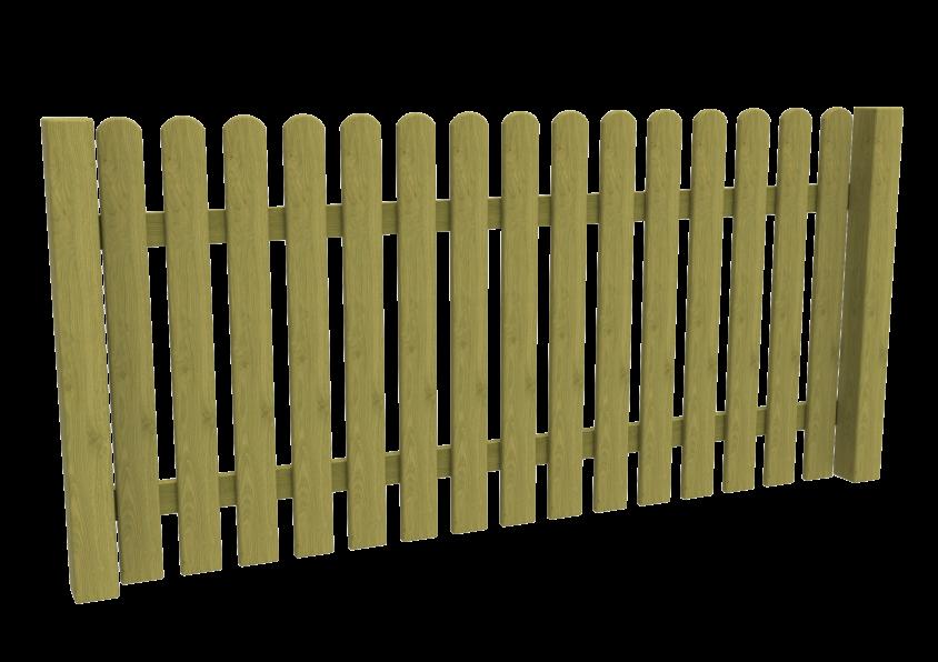 OP-02 Ogrodzenie sztachetowe